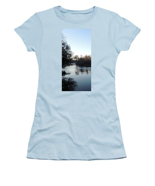 Women's T-Shirt (Junior Cut) featuring the photograph Flint River 23 by Kim Pate