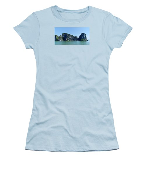 Floating Village Ha Long Bay Women's T-Shirt (Junior Cut) by Scott Carruthers