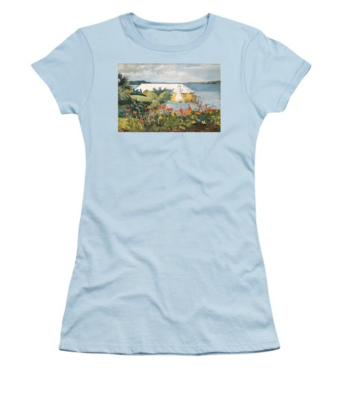 Flower Garden And Bungalow Women's T-Shirt (Athletic Fit)