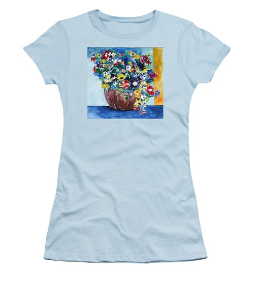 Flower Jubilee Women's T-Shirt (Junior Cut) by Esther Newman-Cohen