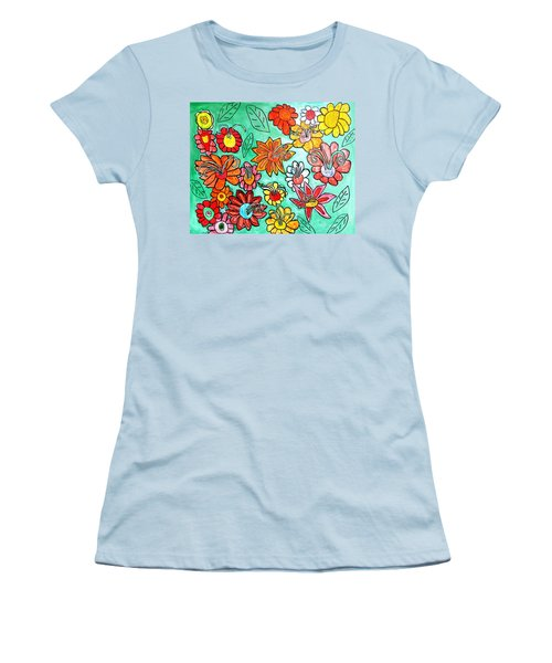 Flower Power Women's T-Shirt (Junior Cut) by Artists With Autism Inc