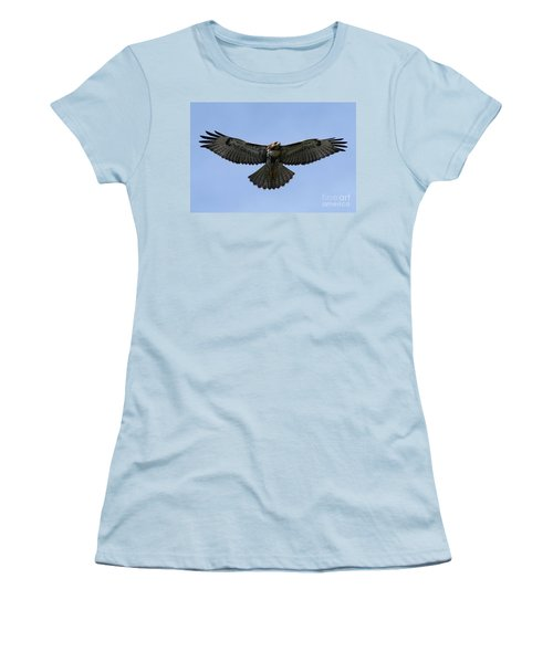 Flying Free - Red-tailed Hawk Women's T-Shirt (Junior Cut) by Meg Rousher