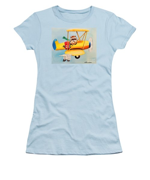 Flying Friends Women's T-Shirt (Junior Cut) by LeAnne Sowa