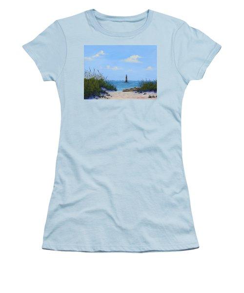 Folly Beach Lighthouse Women's T-Shirt (Athletic Fit)