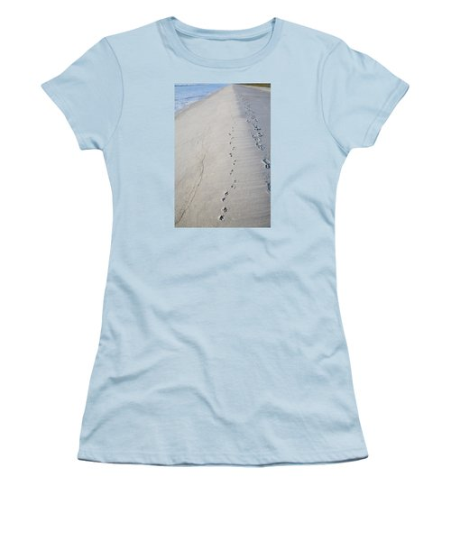 Footprints And Pawprints Women's T-Shirt (Athletic Fit)