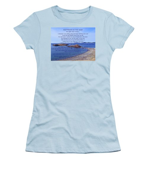 Footprints In The Sand 2 Women's T-Shirt (Athletic Fit)
