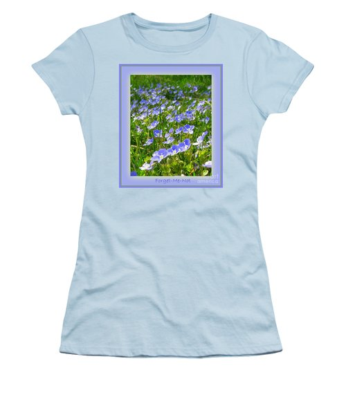 Forget Me Not Women's T-Shirt (Junior Cut) by Leone Lund