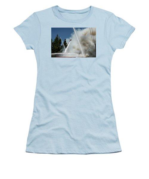 Four Alarm Blaze 003 Women's T-Shirt (Junior Cut) by Lon Casler Bixby