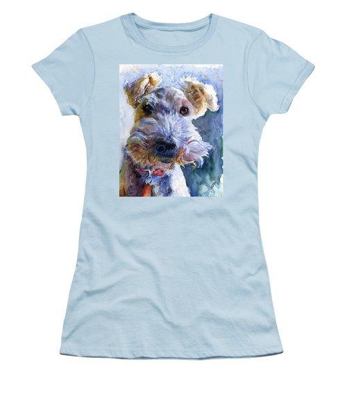 Fox Terrier Full Women's T-Shirt (Junior Cut) by John D Benson