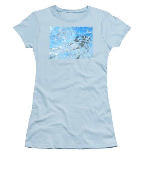 Women's T-Shirt (Junior Cut) featuring the photograph Fracked  by Brian Boyle