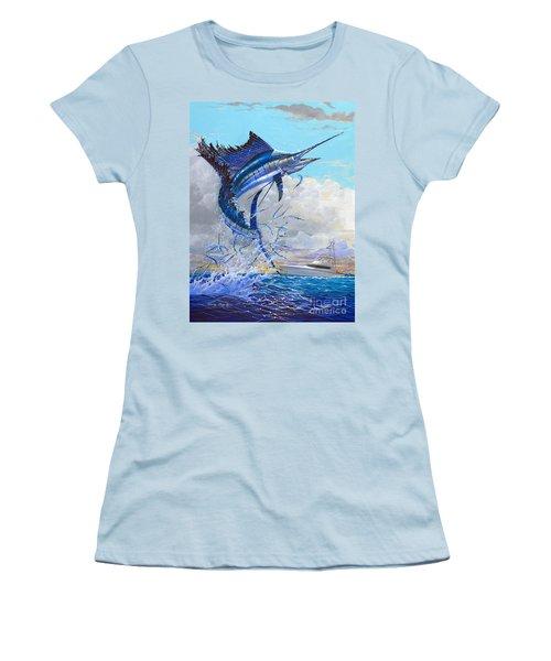 Free Jumper Off00152 Women's T-Shirt (Junior Cut) by Carey Chen