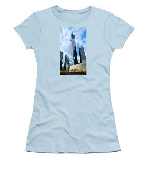 Freedom Tower Women's T-Shirt (Junior Cut) by Stephen Stookey