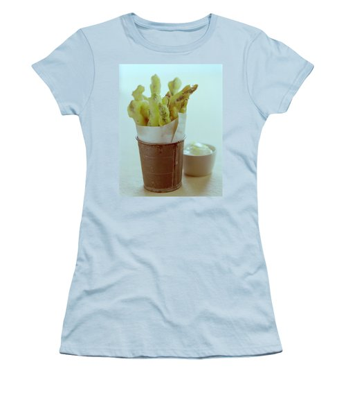 Fried Asparagus Women's T-Shirt (Athletic Fit)