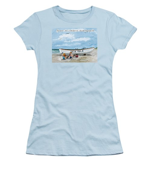 Friends By The Sea  Women's T-Shirt (Athletic Fit)