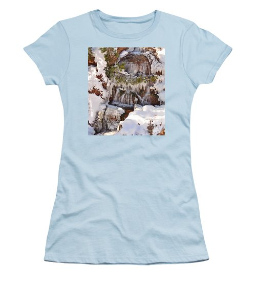 Frosty Cascades Women's T-Shirt (Athletic Fit)