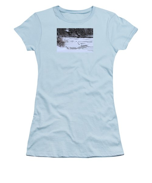Women's T-Shirt (Junior Cut) featuring the photograph Frozen Silence  by Duncan Selby
