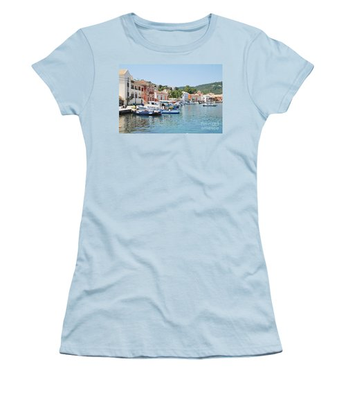 Gaios Harbour On Paxos Women's T-Shirt (Athletic Fit)