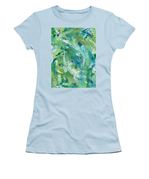 Geckos At Play Women's T-Shirt (Athletic Fit)