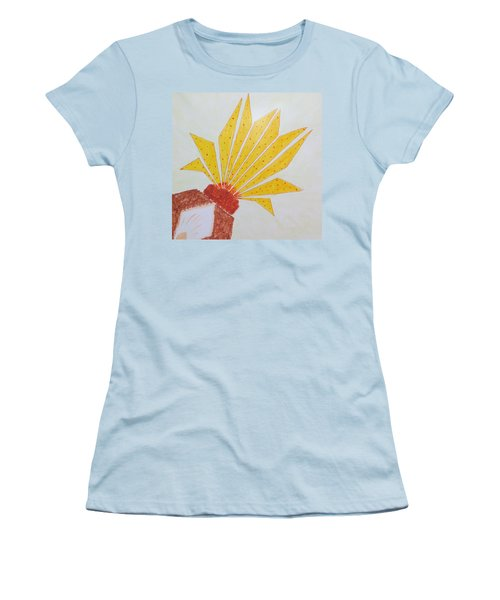 Geometric Blooming Lotus Women's T-Shirt (Athletic Fit)