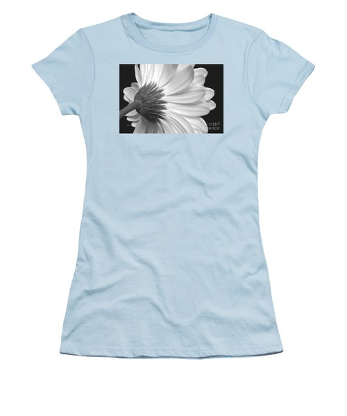 Gerbera Daisy Monochrome Women's T-Shirt (Junior Cut) by Jeannie Rhode