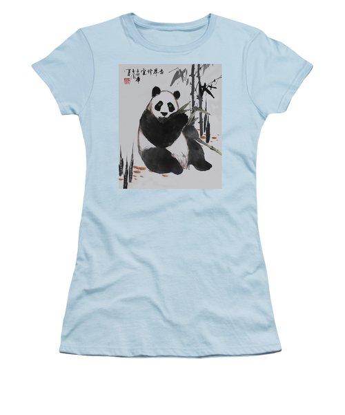 Giant Panda Women's T-Shirt (Athletic Fit)