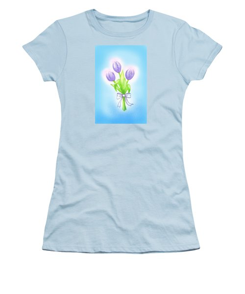 Women's T-Shirt (Junior Cut) featuring the drawing Gift by Keiko Katsuta