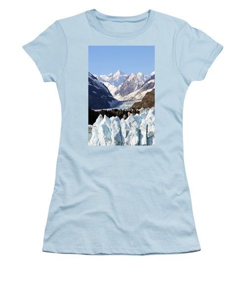 Women's T-Shirt (Junior Cut) featuring the photograph Glacier Bay Alaska by Sonya Lang