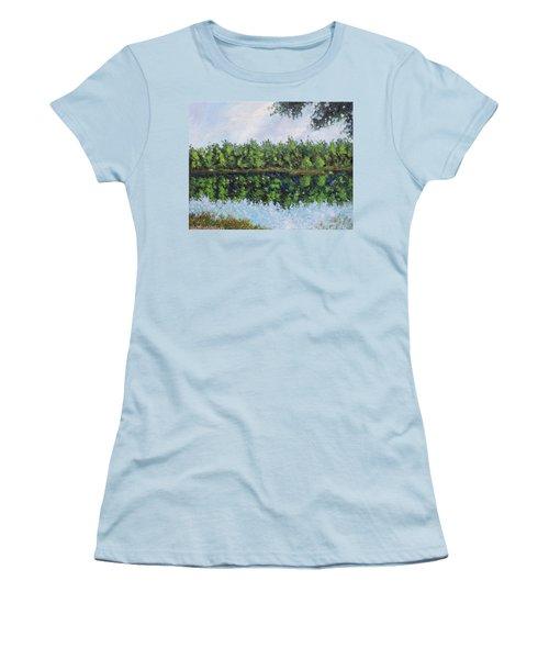 Glenoak Lake Women's T-Shirt (Junior Cut) by Jason Williamson