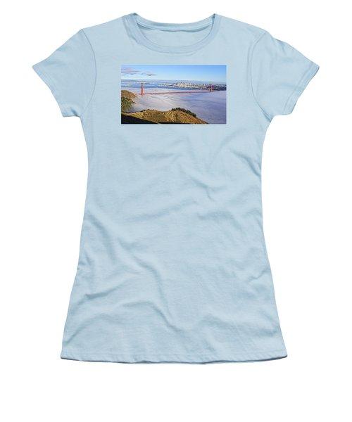 Golden Gate Women's T-Shirt (Junior Cut) by Dave Files