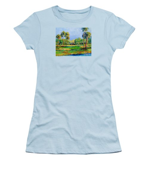 Golf In The Tropics Women's T-Shirt (Athletic Fit)