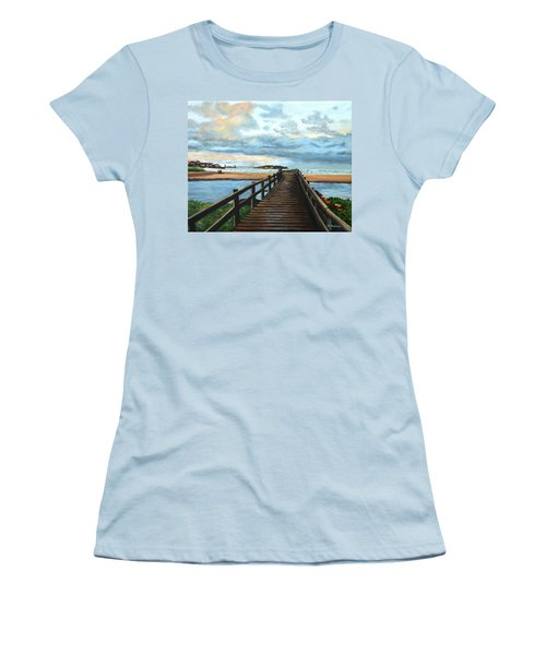 Good Harbor Beach Gloucester Women's T-Shirt (Junior Cut) by Eileen Patten Oliver
