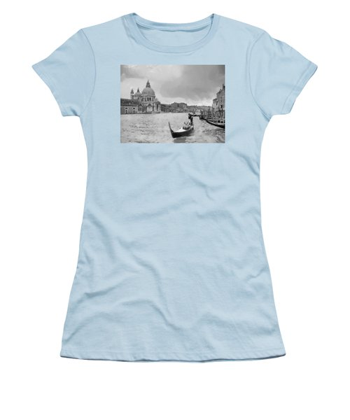 Women's T-Shirt (Junior Cut) featuring the painting Grand Canal Venice Italy by Georgi Dimitrov