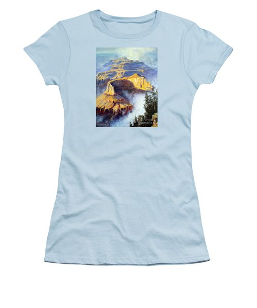 Women's T-Shirt (Junior Cut) featuring the painting Grand Canyon View by Lee Piper
