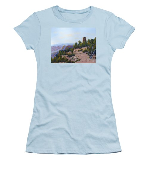 Grand Canyon Watchtower Women's T-Shirt (Athletic Fit)