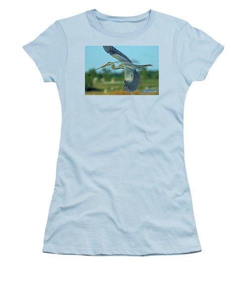 Great Blue Heron Flight 2 Women's T-Shirt (Athletic Fit)
