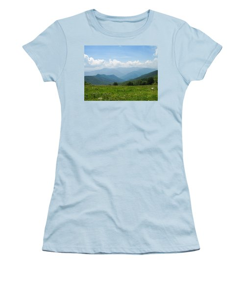 Great Smoky Mountains Women's T-Shirt (Junior Cut) by Melinda Fawver