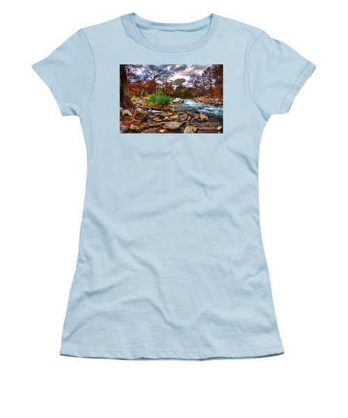 Guadalupe In The Fall Women's T-Shirt (Junior Cut) by Savannah Gibbs