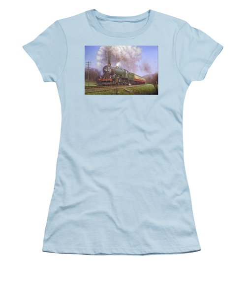 Gwr King Class On Dainton Bank. Women's T-Shirt (Athletic Fit)