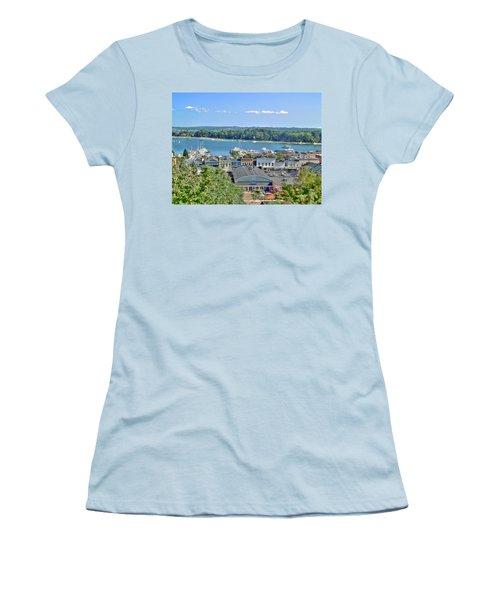 Harbor Springs Michigan Women's T-Shirt (Junior Cut) by Bill Gallagher