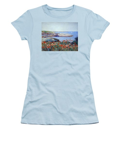 Hassam's Poppies On The Isles Of Shoals Women's T-Shirt (Athletic Fit)