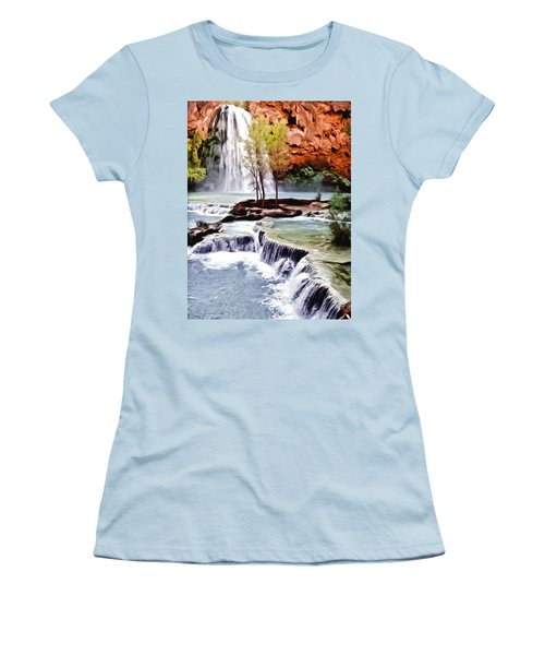 Havasau Falls Painting Women's T-Shirt (Athletic Fit)