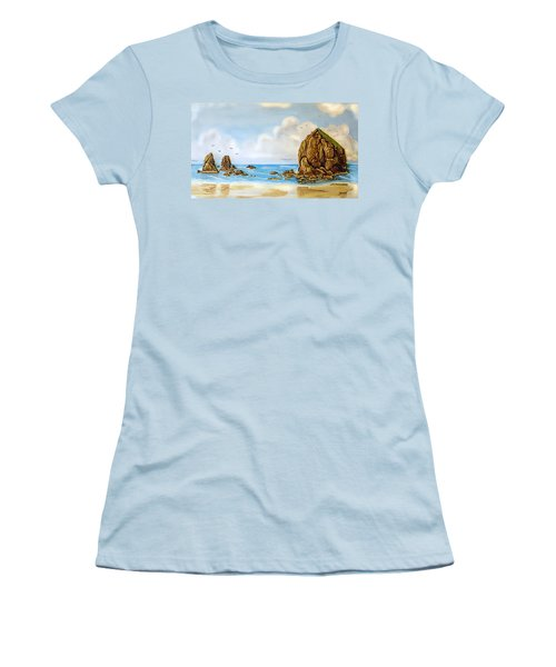 Haystack Relief Women's T-Shirt (Junior Cut) by Wendy McKennon