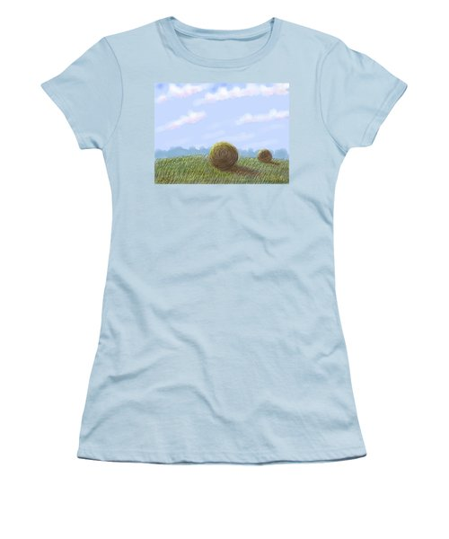 Hey I See Hay Women's T-Shirt (Junior Cut) by Stacy C Bottoms
