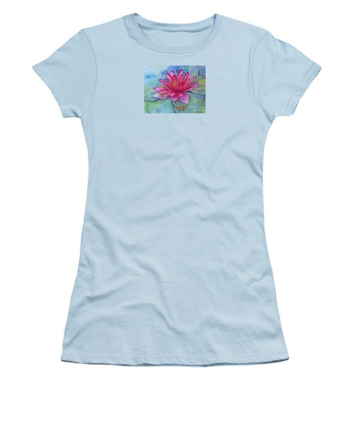 Women's T-Shirt (Athletic Fit) featuring the painting Hide And Seek by Beatrice Cloake