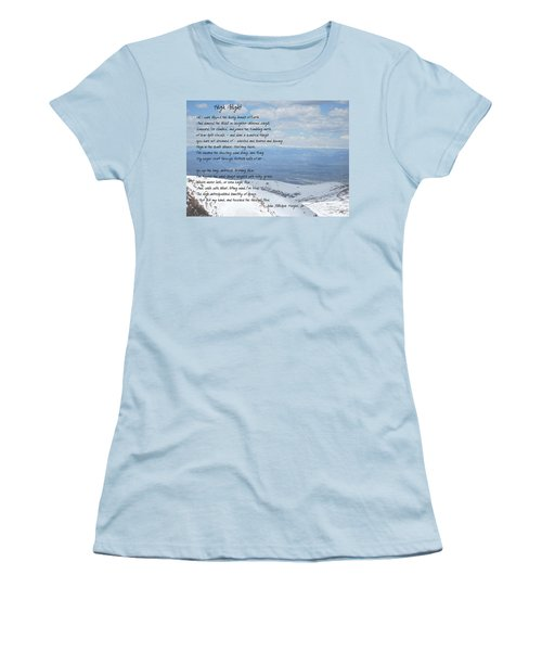 High Flight Women's T-Shirt (Junior Cut) by Paulette B Wright