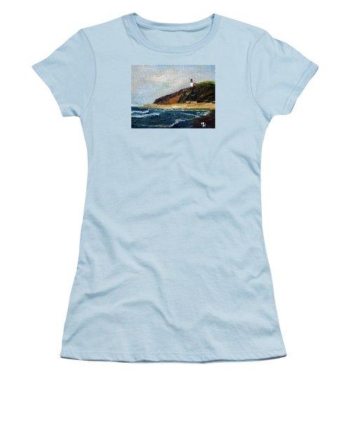 Women's T-Shirt (Junior Cut) featuring the painting Highland Light by Michael Helfen