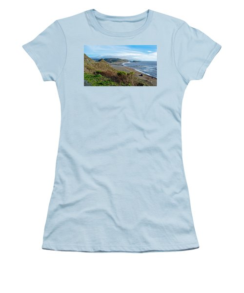 Highway 1 Near Outlet Of Russian River Into Pacific Ocean Near Jenner-ca  Women's T-Shirt (Athletic Fit)