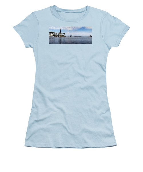 Hillsboro Inlet Lighthouse Panorama Women's T-Shirt (Athletic Fit)