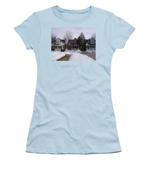 Historic Seventh Street Menominee Women's T-Shirt (Athletic Fit)