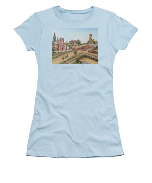 Historic Street - Lawrence Ks Women's T-Shirt (Athletic Fit)
